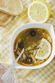 Soup, Lemon And Toasts