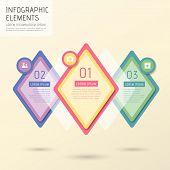 Creative Rhombus Infographics Design