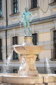 Fencer Fountain in Wroclaw, Poland