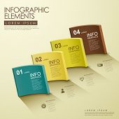 3D Cambered Surface Solid Infographic Elements