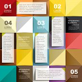 Abstract Colorful Poly Paper Infographic Elements