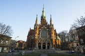 KRAKOW, POLAND - MAR 11, 2014: Church Joseph - a historic Roman Catholic church in south-central par