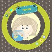 picture of pisces horoscope icon  - Zodiac signs collection - JPG