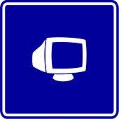crt monitor sign