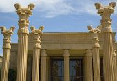 Architectural detail at Darioush Winery in Napa Valley