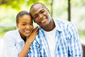 close up portrait of african american couple outdoors