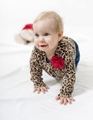 Beautiful Baby Crawling On All Fours