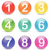 Vector Colored Numbers Icons