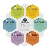 Hexagon Flat Infographic Element