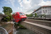 SINGAPORE - NOVEMBER 09, 2012: Sentosa Express is a monorail line connecting Sentosa island and Harb