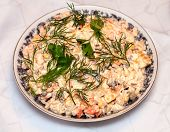 Olivier Salad In A Plate