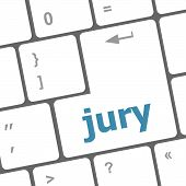 Jury Word On Computer Keyboard Pc Key