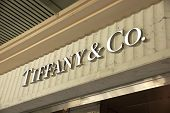 Tiffany And Co. Logo Sign On Their Store