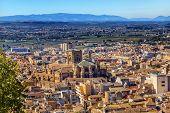 Alhambra Cityscape Cathedral  Granada Andalusia Spain