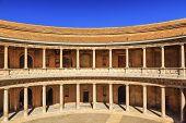 Alhambra Palace Carolos 5Th Granada Andalusia Spain
