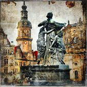old baroque Dresden - vintage cards series
