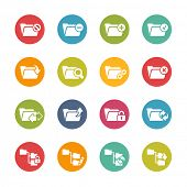 Folder Icons - 1 // Fresh Colors Series ++ Icons and buttons in different layers, easy to change colors ++