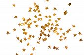 Holiday Background With Little Golden Stars
