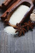 spices and brown sugar for a Christmas baking