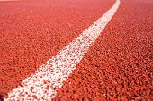 Close Up Curve Running Track Rubber