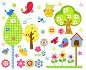 image of insect  - Vector illustration of cute birds - JPG