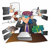 Businessman Overloaded Jobs