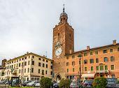 Clock Tower In Castelfranco Veneto