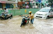 Vietnamese People, Flooded Water Street