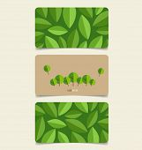Nature banner, Eco organic labels and tags set. Vector illustration.