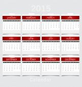 picture of august calendar  - Simple 2015 year calendar - JPG