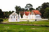 Wat Uposatharam (wat Bot) Temple,located Along The Banks Of The Sakae Krang River