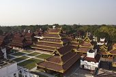 foto of royal palace  - The Mandalay Palace located in Mandalay Myanmar is the last royal palace of the last Burmese monarchy - JPG