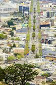 stock photo of gey  - Aerial view of Market street in the Castro San Francisco California United States of America - JPG