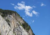 rocky escarpment in the Pyrenees, Bujaruelo Valley, Aragon, Huesca, Spain.