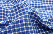 Blue white crumpled plaid cloth