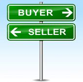 Buyer And Seller Green Sign