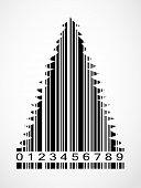 Barcode Christmas Tree  Image Vector Illustration