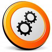 Gears Orange Icon