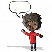 cartoon boy asking question