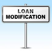 picture of modification  - Illustration of loan modification sign on sky background - JPG