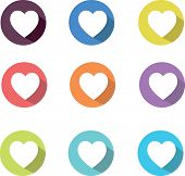 Vector heart icons