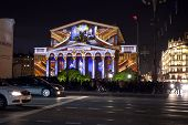 Bolshoi Theatre On The Festival Circle Of Light In Moscow