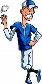 Cartoon baseball pitcher