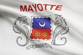 Flag Blowing In The Wind Series - Mayotte