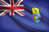 Flag Blowing In The Wind Series - Saint Helena