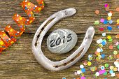 new year 2015 with horseshoe