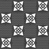Geometrical Arabian Ornament Gray With Doted Texture