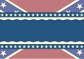 foto of flag confederate  - detailed illustration of a patriotic confederate flag on a grungy background - JPG