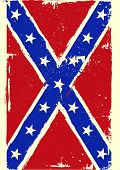 stock photo of confederate flag  - detailed illustration of a patriotic confederate flag on a grungy background - JPG