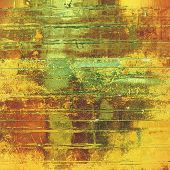 Old retro vintage texture. With yellow, brown, orange, green patterns